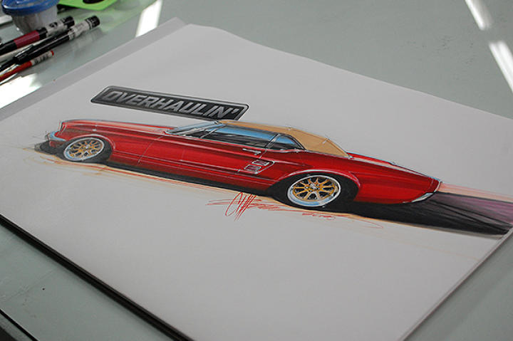 The Mustang Drawing