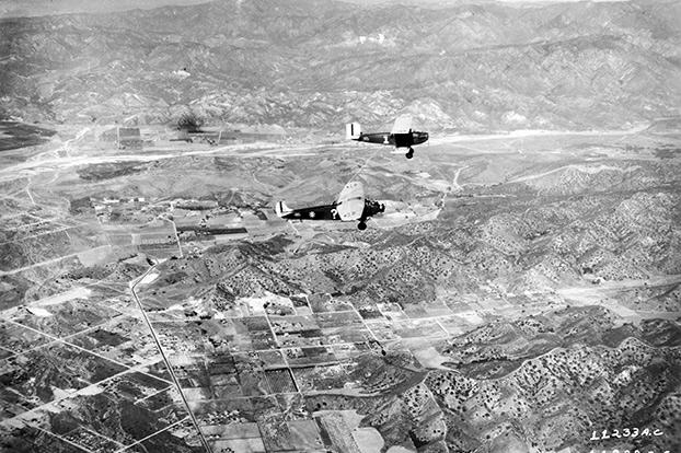 During Operation Question Mark (notice the punctuation mark on the fuselage) initiated on New Year's Day in 1929, officials wanted to see how long a plane could remain in flight. This Fokker C-2A remained aloft for 150 hours, thanks to the modified Douglas C-1 and a hose passing through a hatch that was cut into its floor.