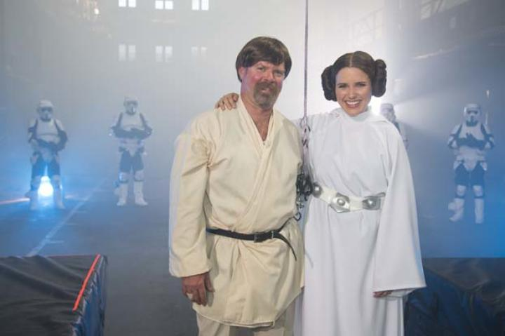"""Perhaps surprisingly, Jamie was game for cosplaying. """"I must give Jamie props for dressing as Luke Skywalker,"""" said Adam. """"He really went above and beyond."""""""