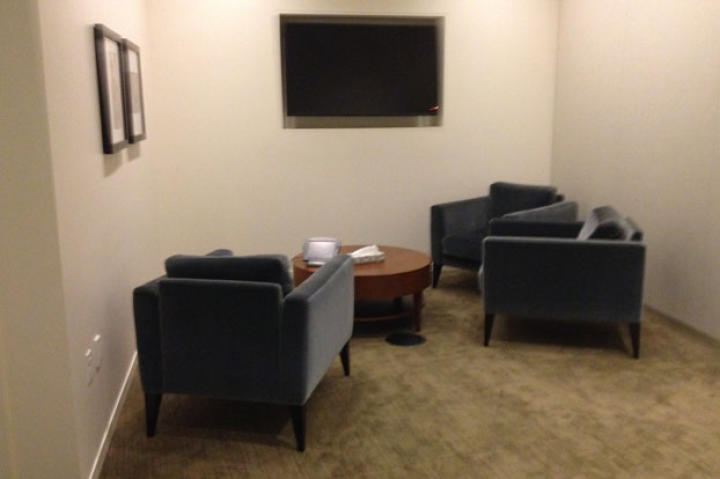 "The concept of the video: During an ""interview"" about charitable-giving myths with Bill and Melinda, it's revealed that Jamie and Adam are holed away in a room in the Gates Foundation, busting myths. Here's what that room looked like the day before we filmed."