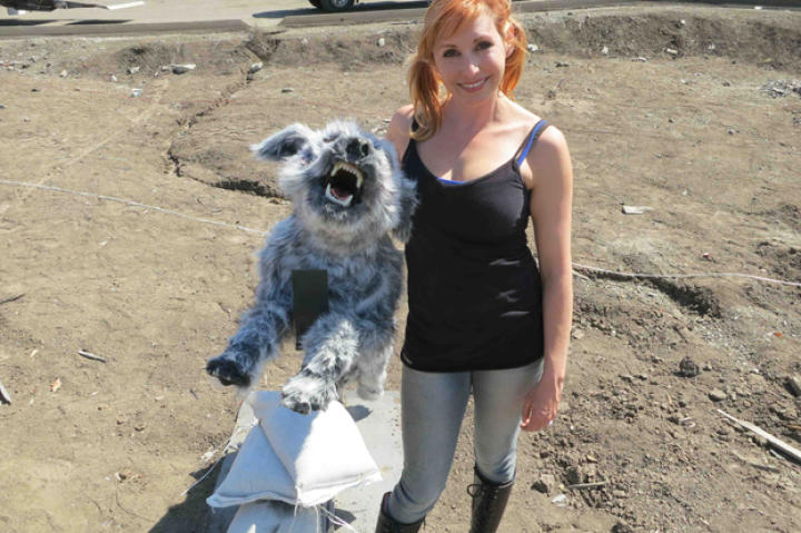 """Says Kari of the wolf she built for 2014's Bullet Baloney: """"I actually liked that wolf. I kinda wanted to keep it at my desk. I liked the glowy eyes -- there are little LED in the eyes that light up so at night it looks really weird."""""""