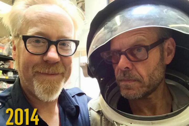 Look who stopped by my cave to chat for a bit last May. My good friend Alton Brown! --