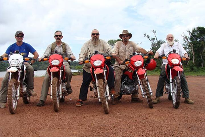 The Hoffman Crew and their new dirt bikes. Makes getting to the claim much, much easier.