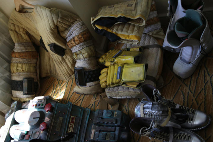 This is what Adam Savage's hotel-room floor looks like during Comic Con.