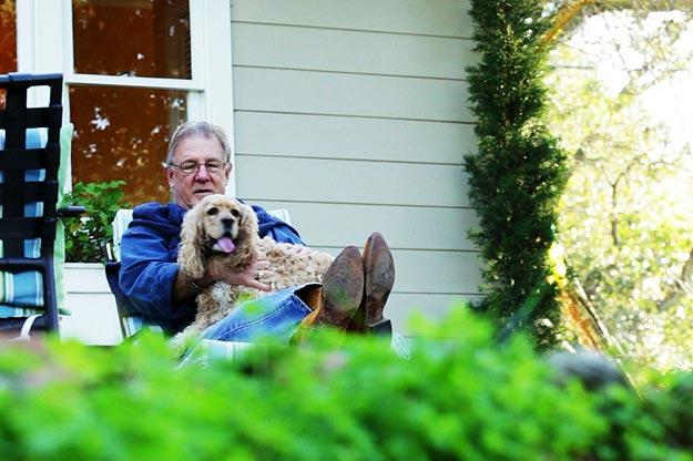 After a serious heart attack, Michael Bosch began to feel lonely and isolated on the Northern California ranch he'd been renting. For companionship, Michael adopted a puppy named Honey. One morning, as Michael and Honey pulled out of the ranch's two-mile driveway, the sun flashed into Michael's mirror, temporarily blinding him. His SUV veered off the road and left Michael hanging upside-down. Michael threw his five-month-old puppy out the window before spending eight hours slipping in and out of consciousness in the overturned vehicle. In the meantime, Honey ran to alert neighbors and led them back to her injured owner, saving his life in the nick of time.
