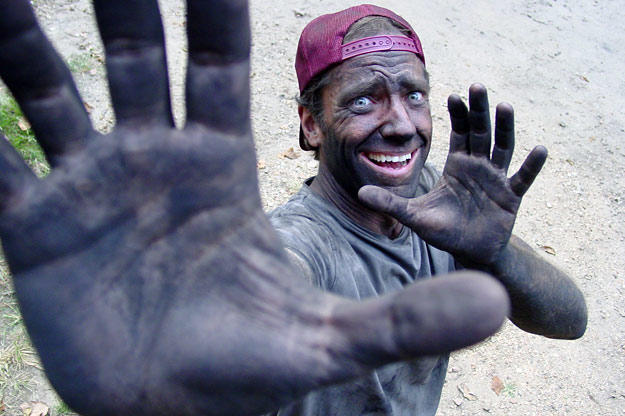 Mike Rowe has been dirty pretty constantly since July 2005, when the full series debuted on Discovery Channel (three pilot episodes premiered in November 2003).