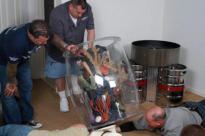 The keg tank before ...