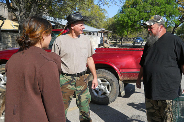 Turtleman (Ernie Brown, Jr.) and Neal James meet up with Taylor Pierce for a nuisance call.
