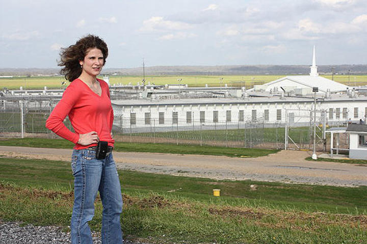 Cathy Fontenot, assistant warden, outside of Louisiana's Angola Prison.