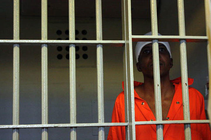 An inmate inside Louisiana's Angola Prison.