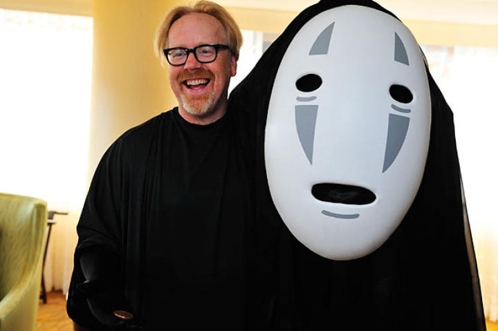 The face behind No-Face: Adam Savage. Adam Tweeted that he made the costume himself ... and for less than $100.