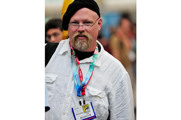 Not a bad likeness of Jamie Hyneman at all! Although sometimes Jamie can be a little freaked out when people dress like him.