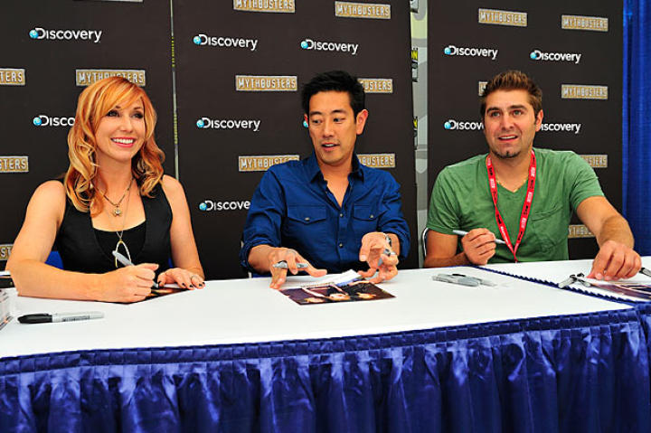 This is the third year for Grant Imahara and Tory Belleci at Comic Con, and the second for Kari Byron.