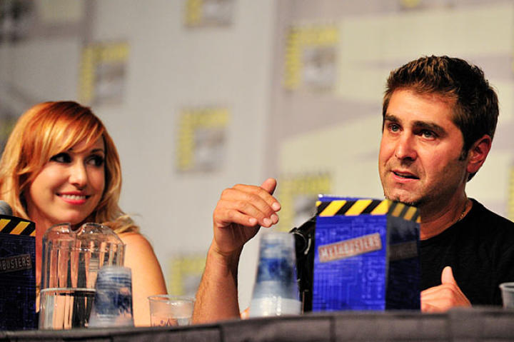 """The day after Comic Con ended, Tory Belleci found himself back in LA at The Late Late Show with Craig Ferguson, Dr. Who and a leprechaun. """"This is like ComicCon flashbacks,"""" he Tweeted."""