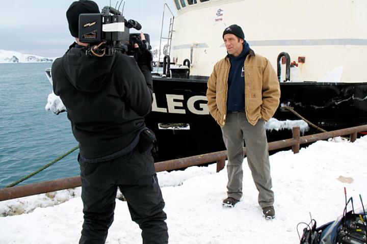 Super-producer Dave Barsky captures Doug Glover capturing Mike Rowe's stand-ups in Alaska.