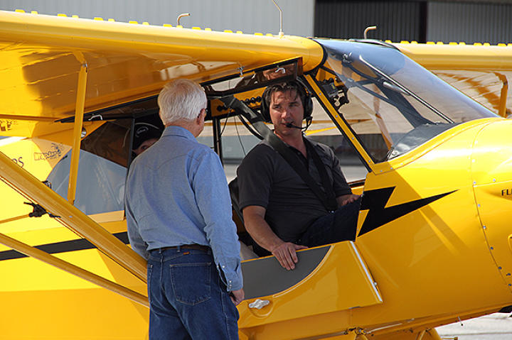 Fred and Dustin readying for a flight.