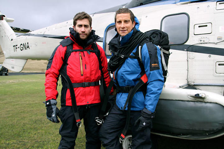 """Jake went where Bear went, ate what Bear ate (including worms), and on occasion even took the lead. """"For me, it's all about discovery,"""" said Gyllenhaal."""