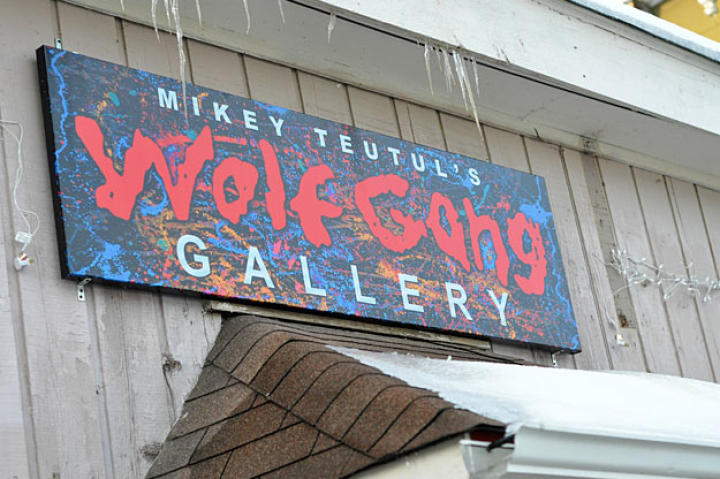Mikey Teutul's Wolf Gang Gallery and Store is located a few miles down the road from both Junior and Senior's shops in Montgomery, N.Y. It's open to the public.