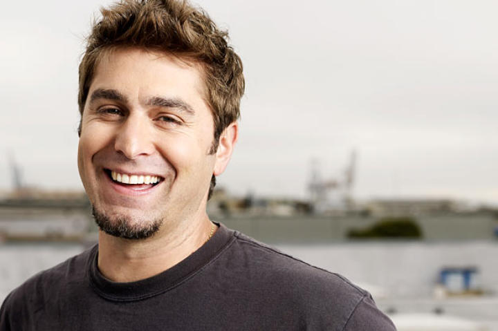 Tory Belleci relaxes in front of Discovery Channel's cameras during this photo shoot of the cast in 2007.