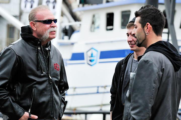 "Senior: ""Talkin' to Captain Phil's boys [Jake and Josh Harris] about the trip to Alaska."""