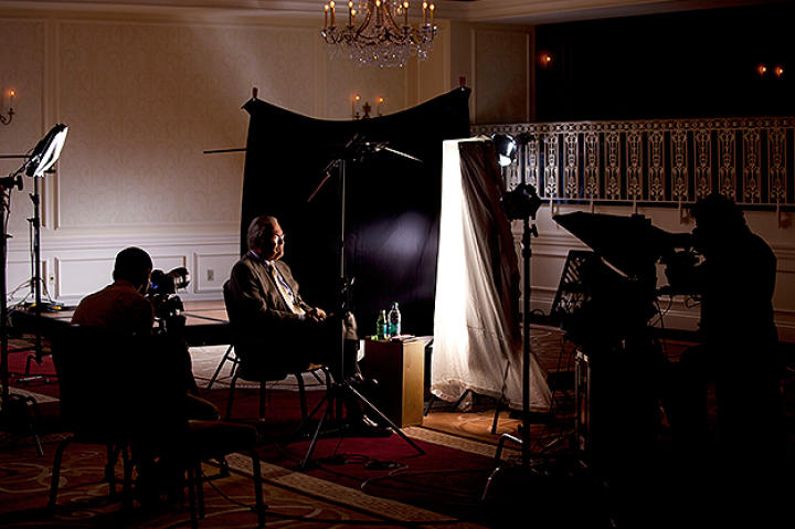 Donald Rumsfeld (Chief of Staff for President Ford) being interviewed for Gatekeepers.