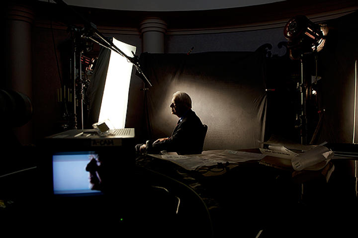 President Jimmy Carter being interviewed for Gatekeepers.