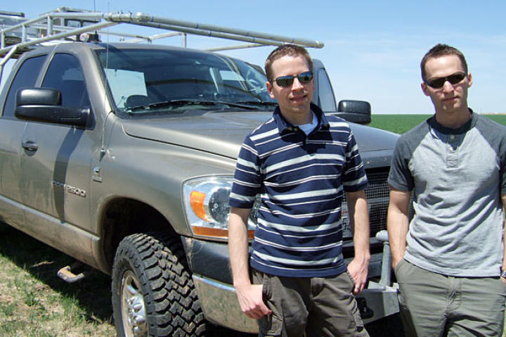 Brandon and Matt with their new TIV Doghouse just after they joined the team in time for the 2009 tornado season. The two seasoned chasers added a powerful punch to Sean's team, assisting with both grand strategy and front-line tactics.