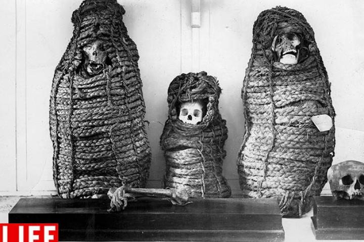 Peruvian Mummies. Archaeologists believe that many Incan mummies, including those of children, were human sacrifices to the the mountain god Apus.