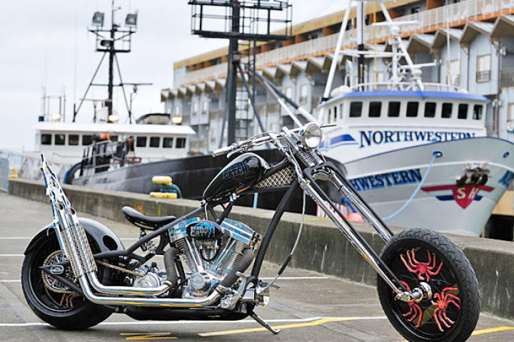 On April 9, 2011, Discovery Channel hosted a Deadliest Catch fan convention in Seattle, WA. Orange County Choppers built a bike in honor of the event.