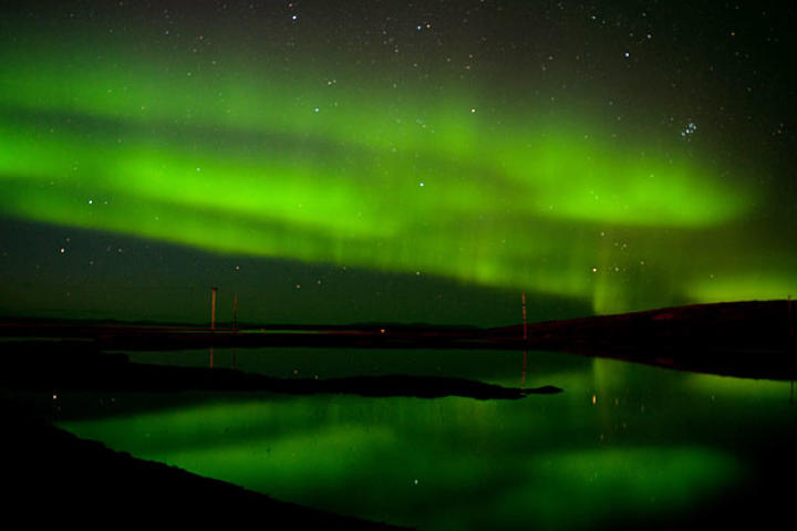A spectacular display of the Northern Lights over Unalakeet.