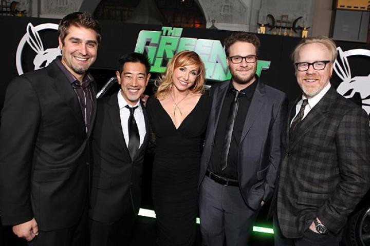 Tory Belleci, Grant Imahara, Kari Byron, Seth Rogen and Adam Savage attend