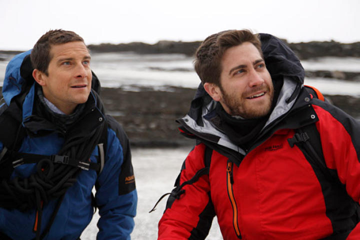 On his trip to Iceland, Bear Grylls brought along a companion — actor Jake Gyllenhaal.