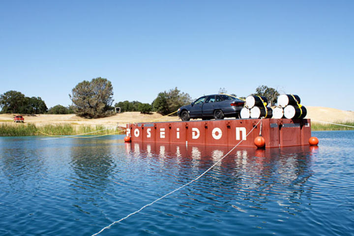 "Behold the ""upside-down underwater car"" before it is upside-down or underwater. Will Adam Savage be able to escape this time?"