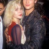 Christina Applegate and Brad Pitt on August 26, 1988.