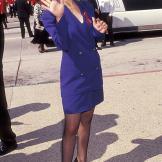 Attending the Primetime Emmy Awards on August 25, 1991.