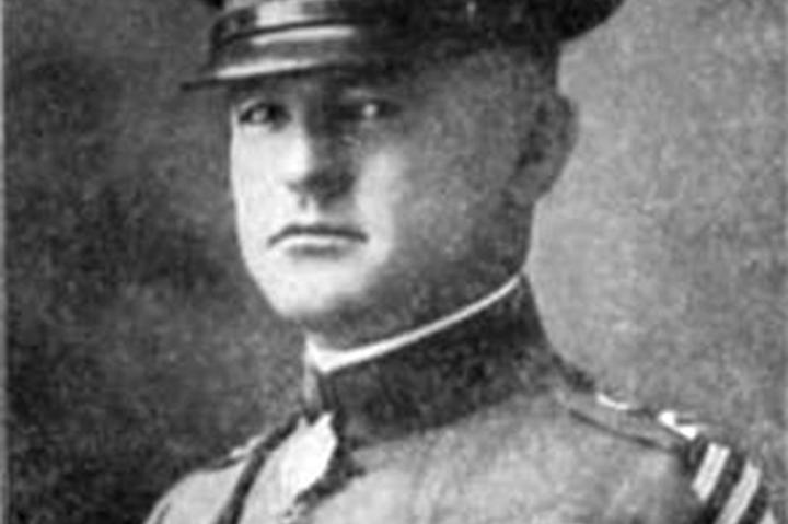 """Because his unit was one of only two to reach its objective during the Meuse-Argonne Campaign of 1918, Captain Nelson Holderman and his men found themselves cut off and completely encircled by the enemy, eventually forming part of the legendary """"Lost Battalion."""" Holderman commanded the right flank, urging his men on and maintaining their morale, all the while having been wounded multiple times. If that wasn't heroic enough, he also carried two wounded soldiers through enemy machine gun fire and shelling to safety."""