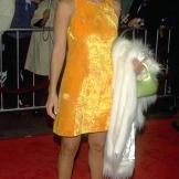 "At the film premiere of Tim Burton's ""Mars Attacks!"" in 1996."
