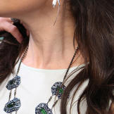 Silver Earrings by Bom Bom Jewelry