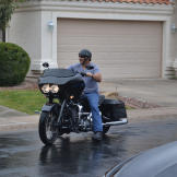 Another shot of Ed Rosenberg on his motorcycle.