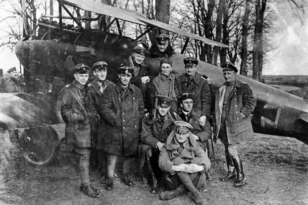 """As leader of the German """"Flying Circus"""" Baron Manfred von Richthofen is perhaps one of the most famous air aces for his tally of 80 kills and for his eventually flying his signature red triplane."""
