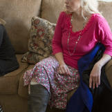 Rhonda, Brady's fifth wife, listens as Brady defines safe talk, but sh