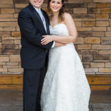 The happy couple marveled at the wonderful evening with friends and family.