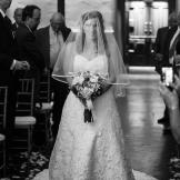 Andrea looked beautiful in her wedding dress as she walked down the aisle.