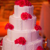 Andrea and Patrick's wedding cake was simple and elegant.