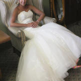 But first the bride gears up for a church ceremony. Laura Ann lounges