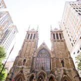 The ceremony was held at the First Presbyterian Church of Pittsburgh.