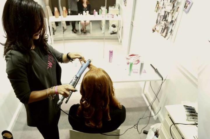 Blow Pro NY supplied complimentary makeup and hair styling services.
