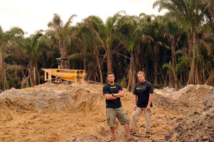 Scott and George on site.