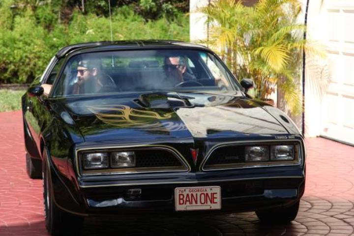 Richard and Aaron in the Bandit Car