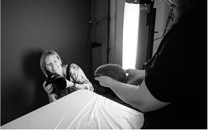 Washington Post photographer, Linda Davidson, visits the set to capture some of the action of Henry the hedgehog.